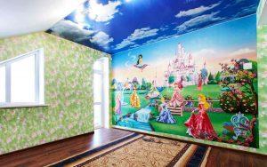 Натяжные потолки в детской комнате, сказка.