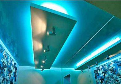 Натяжные потолки с LED подсветкой
